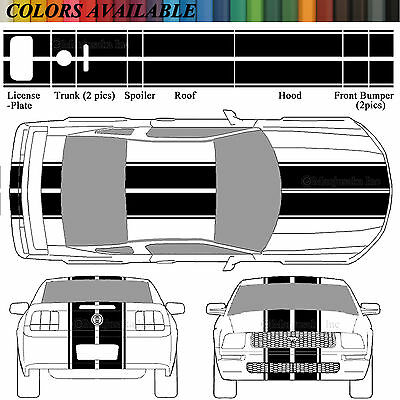 precut diecut stickers 05 06 07 08 09 Ford Mustang GT Set of 2 Outline Decals