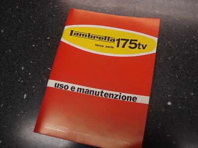 Lambretta Owners Manual - TV175 Series 3 - Italian Text (A-4)