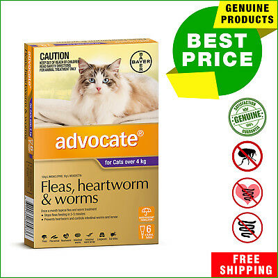 ADVOCATE PURPLE Pack for Cats Over 4 Kg 6 Pipettes + 2 Pipettes FREE