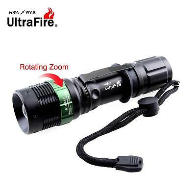 Ultrafire 10000LM Zoomable CREE XM-L T6 LED Flashlight+18650 Battery+Charger TE