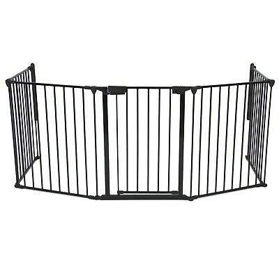Playroom Fireplace Safety Fence Baby Pet Metal Gate Hearth Infant Dog Fire Bbq