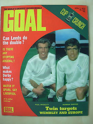 Goal Magazine April 7 1973 Leeds United - Ipswich Town - Wolves