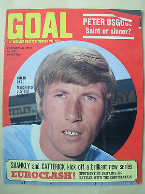 Goal Magazine February 6 1971 Manchester City - Burnley - Oxford - Orient