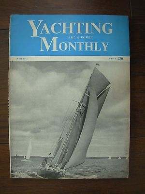 Vintage The Yachting Monthly Magazine April 1956
