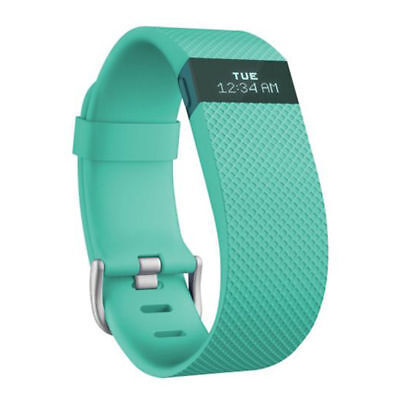 Fitbit Charge HR Teal Wireless Activity Fitness Sleep Tracker Wristband Large HR