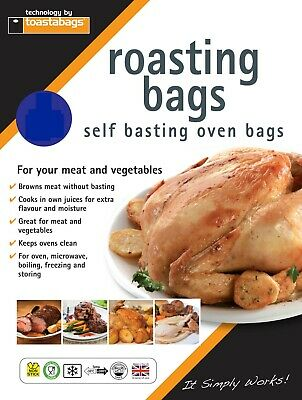 100 X Large Turkey Roasting Oven Bags 45X55 Cm - Fantastic