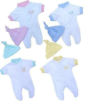 BABYPREM Baby Clothes Preemie Micro Baby NICU SCBU Sleeper Teddy Various Colours