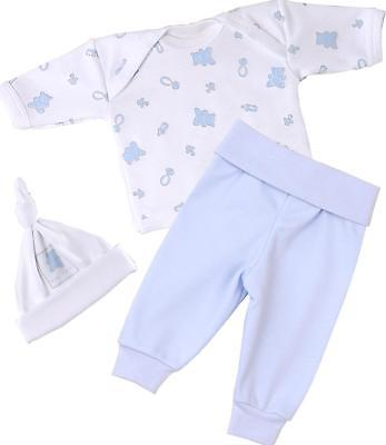 BabyPrem Micro Early Preemie Baby Clothes Pants Tops Hats Outfits Sets Blue