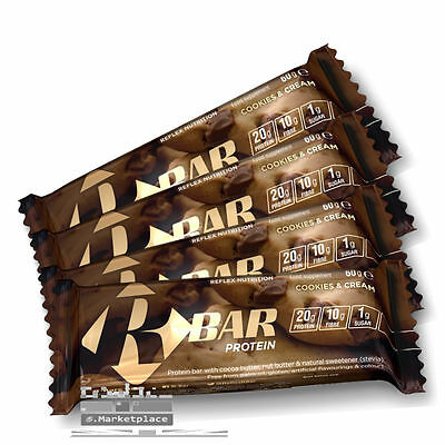 Reflex R-Bars (12x60g) - Low Carb High Protein Bars - Free Shipping