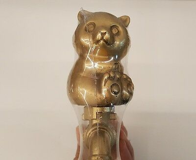 Brass Faucet Panda Spigot Garden Tap Bear Vintage Water Home Decor Outdoor 1/2""