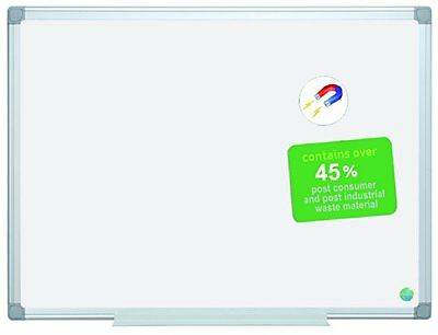 MasterVision Earth Magnetic Gold Ultra Dry Erase 3'X4'  Aluminum Frame