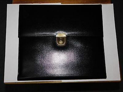 Monk Thorndyke Of England Black Fine Leather Document Writing Case
