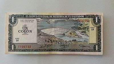 El Salvador 1 Colon 1980 Unc Condition