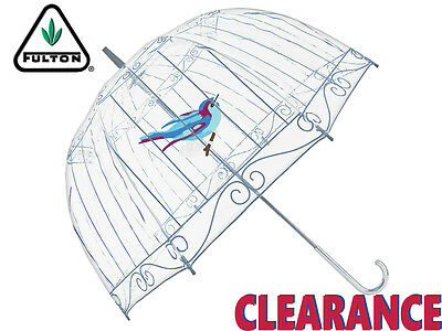 *clearance New* Fulton - Lulu Guinness Bird Birdcage Umbrella - Clear / Cage