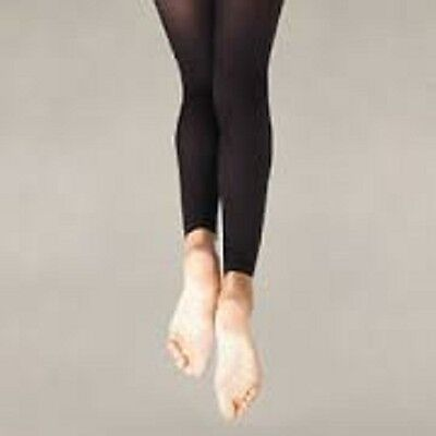 NEW Body Wrappers C33 Footless Dance Tights Black Child S/M