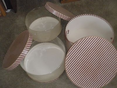 Vintage set of 3 hat boxes