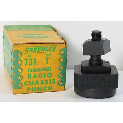 """Greenlee No. 731 1"""" Square Radio Chassis Punch Knockout Set"""