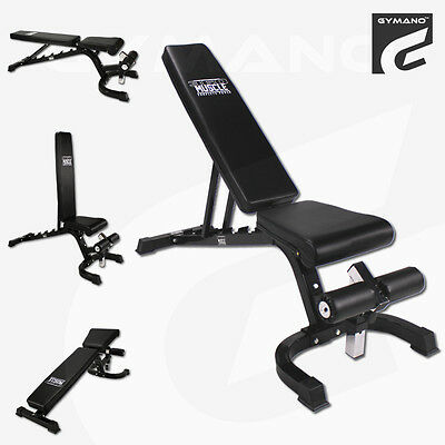 Gymano™ Super 7™ Fid (Flat, Incline & Decline) Bench /adjustable Dumbbell Weight
