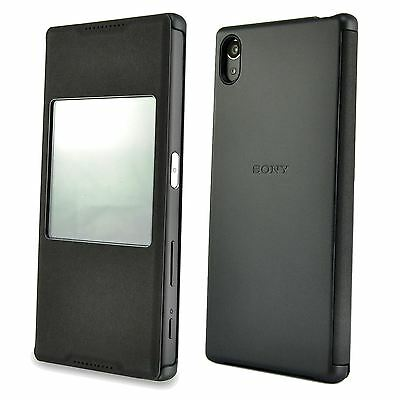 promo code 0f5b2 b8b48 NEW GENUINE SONY Xperia Z5 Smart Style Case Cover SCR42 Window NFC Enabled