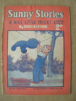ENID BLYTON SUNNY STORIES CHILDRENS MAGAZINE AUGUST 4th 1950 A NICE LITTLE TRICK
