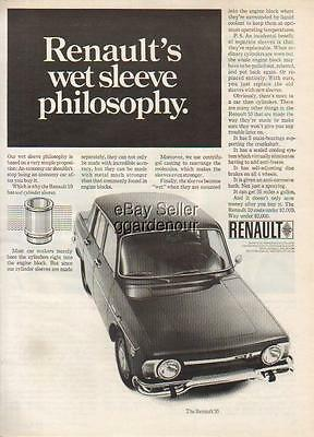 1968 Renault 10 French Car Photo Print Ad : Vintage Advertising