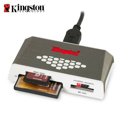 Kingston Multi Media Card Reader / Writer FCR-HS4 USB 3.0 micro SD / SD Card