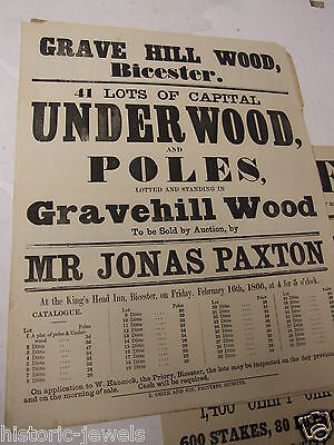 Bicester Gravel Hill Wood poster  1866 Oxford PUB DECORATION