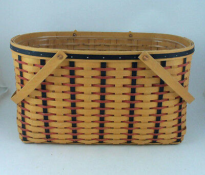 Longaberger 2002 All American Block Party Basket w Protector