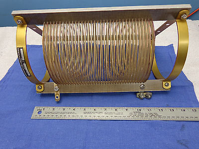 (0387)  Large RF Inductor coil...98uh...20 amps...Kintronic Lab