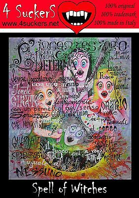 Spell of witches vampires magic wicca  original art painting movie sets 4SuckerS