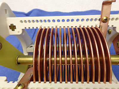 (0388)  Large Variable Roller RF Inductor coil    .50uH to 16uH