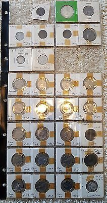 Canadian Coin Collection -Canada– 34 Coins- 1837-1973