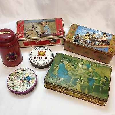 Vintage Lot of Tin Box Jacksons of piccadilly, Heller, Riviera, Fabrilense
