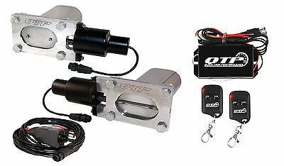QTP QTEC66K Dual Oval Low Profile Electric Exhaust Cutouts With Wireless Remotes