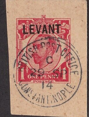 LEVANT 1914 BPO Constantinople Postmark 29 SP 14 2nd Last Day of Use Type 27