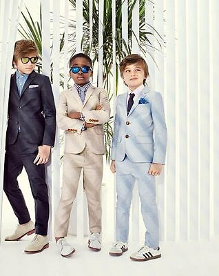 Hot Wedding Page Boys Suit Formal Kids Students Teenagers Graduation Tuxedos