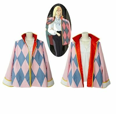 NEW Howl's Moving Castle Hauru Cosplay Costume A.356