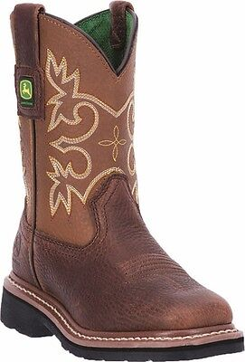 New John Deere JD2342 Kid's Brown Wellington Boots