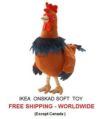 Ikea Soft toy, Rooster soft toy, Ikea Plush toys, Rooster Plush Toy