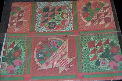 Vtg 80's Current Inc CHRISTMAS QUILT Gift Wrap FOR YOU Signed LINDY Sealed!