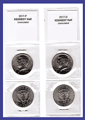 2017 Kennedy Half Dollar, 2-coin set (P and D) Uncirculated
