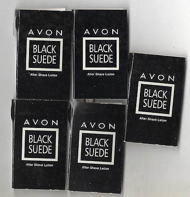 Avon* Lblack Suede After Shave Lotion **x 5  Sample Vials *new**