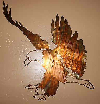 """Eagle Landing""  Smalll Metal Wall Art piece from HGMW"