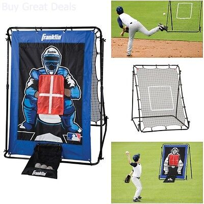 Baseball Pitch Back Pitching Net Target Practice Training Aid Outdoor Equipment