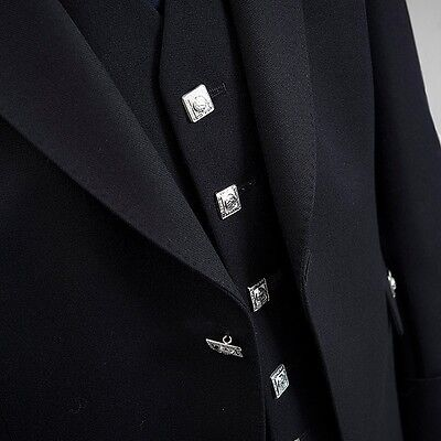 """Argyle jacket and vest Black color Wool Polyester size 38"""" to 52"""" ( Uk Stock )//"""