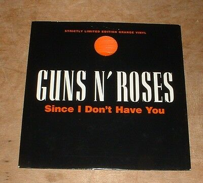 GUNS N' ROSES since i don't have you 1994 UK ORANGE VINYL GEFFEN PS 45