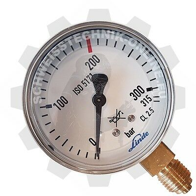 Ersatzmanometer neutral, 0-200bar Inhaltsmanometer (Manometer Argon CO2 N2)