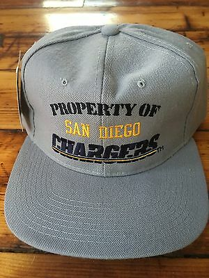 7947531aa1571 Property Of San Diego Chargers Vintage Stock New Era NFL SnapBack Hat 90 s