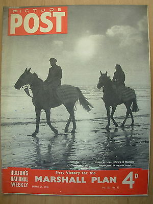 VINTAGE PICTURE POST MAGAZINE MARCH 20th 1948 GRAND NATIONAL - ROCK GARDENS