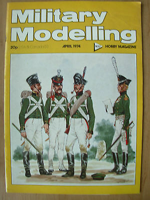 Military Modelling Magazine April 1974 Russian Foot Artillery 1811-1814